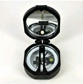 Cina Black Survey Instruments' Accessories Geology Metal Compass With Mirror pabrik